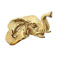 BOBIJOO Jewelry - 象徴のステンレススティールドレゴールドメッキの男 - S 1/2(9 US)、ゴールドメッキ - ステンレススチール316