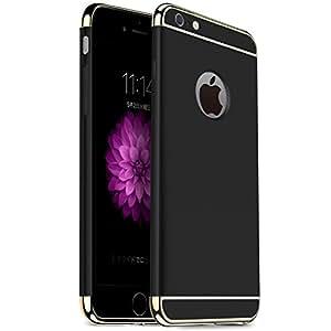TORRAS iPhone6s ケース / iPhone6 ケース 【3パーツ式】アイホン6sケース 軽量 超薄型 ハードケース 耐衝撃 手触り良い 360°保護 (ブラック)