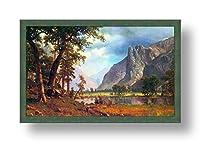 "Alonlineアート–ヨセミテValley Albert Bierstadt Framedのコットンキャンバスホーム装飾壁アート博物館品質フレームをハングアップする準備フレーム 33""x20"" - 85x51cm (Framed Cotton Canvas) VF-BDT104-FCC0F30-1P1A-33-20"