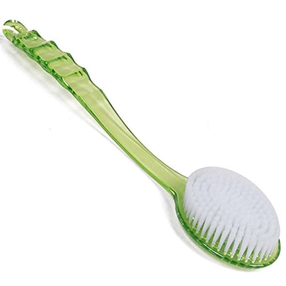それにもかかわらず染色提案するストック男性女性バスブラシスパスクラバーシャワーブラシプラスチックハンドル(緑色)