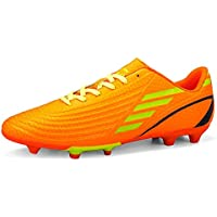 SUP-MANg Men Boy's Unisex Football Boots Soccer Training Shoes Ashietic Sneakers (Color : Orange, Size : 10)