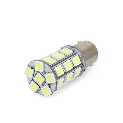 24V LED S25 シングル ホワイト 27連 マーカー...