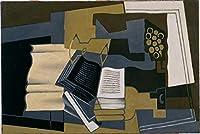 ¥5K-200k 手書き-キャンバスの油絵 - 美術大学の先生直筆 - carafe and book 1920 Juan Gris 絵画 洋画 複製画 ウォールアートデコレーション -サイズ08