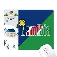 ナミビア国の旗の名 サンタクロース家屋ゴムのマウスパッド