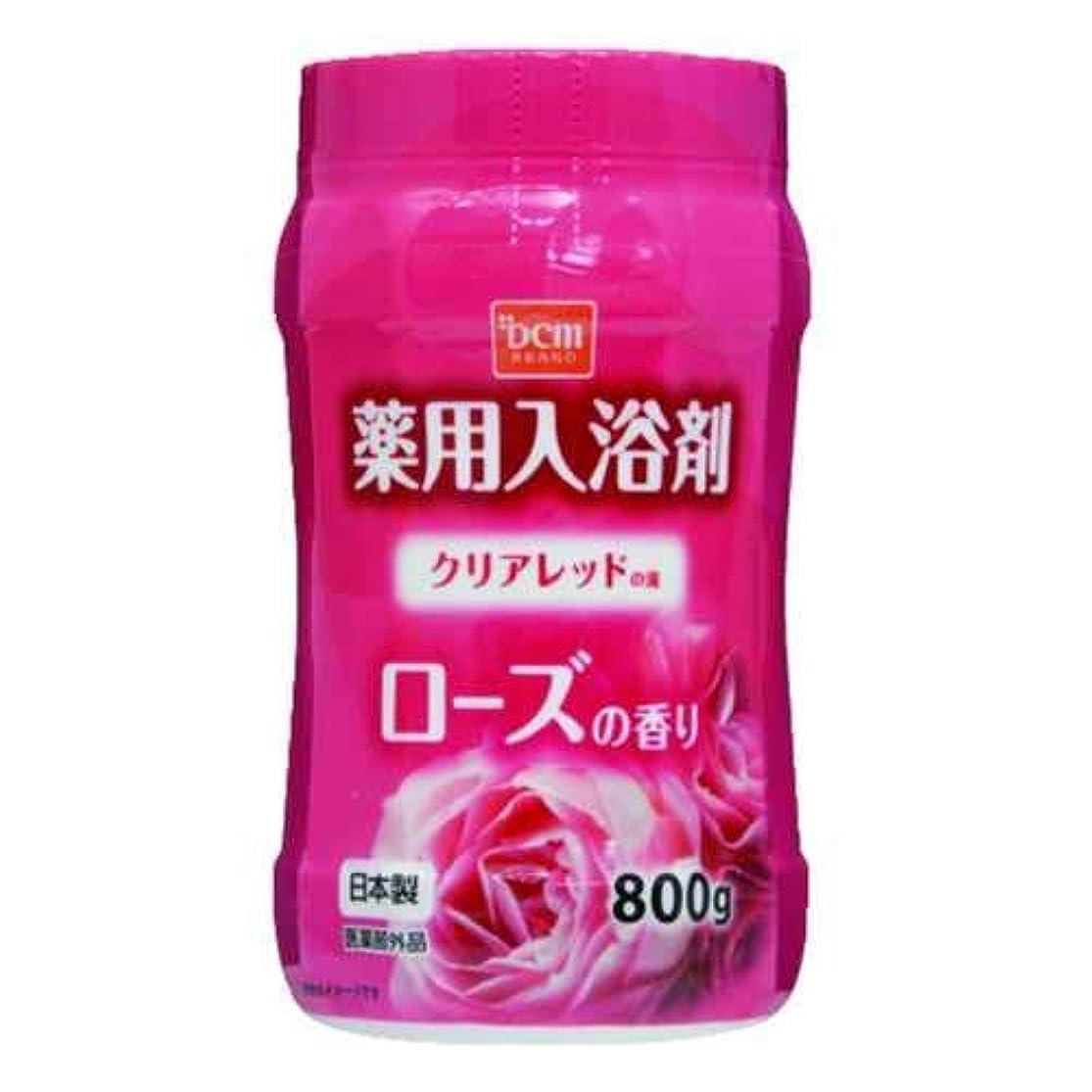 群集シェア犯すDCM薬用入浴剤 ローズ 800G