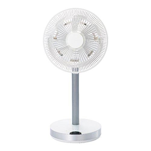 カモメファン 扇風機 メタルファン 23cm ホワイト FKLR-231D WH