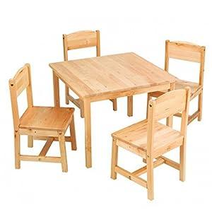 キッドクラフト ファームハウス テーブル セット (ナチュラル / 4人用) 【こども ままごと 木製】 KidKraft Farmhouse Table & 4 Chair Natural 正規品