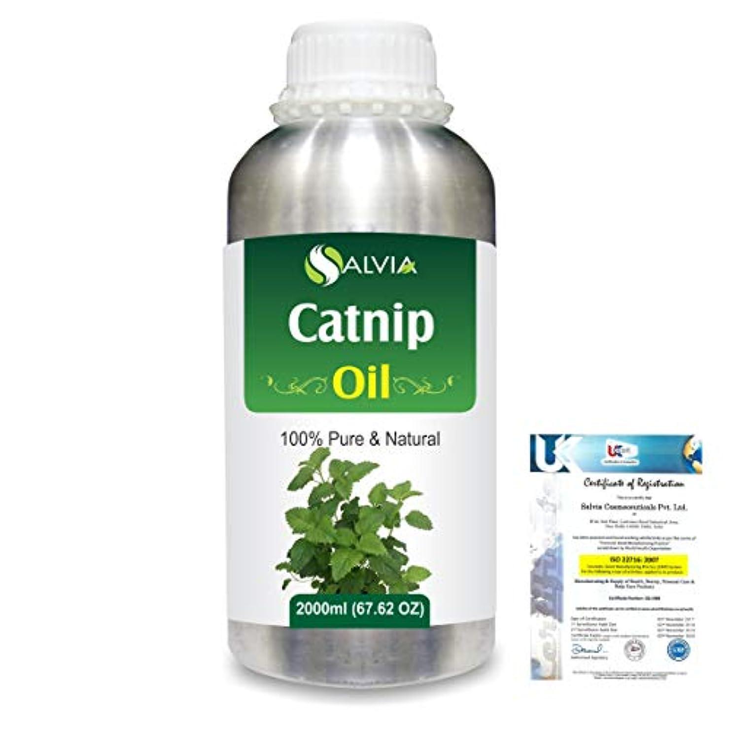 に慣れ投票ありふれたCatnip (Nepeta cataria) 100% Natural Pure Essential Oil 2000ml/67 fl.oz.