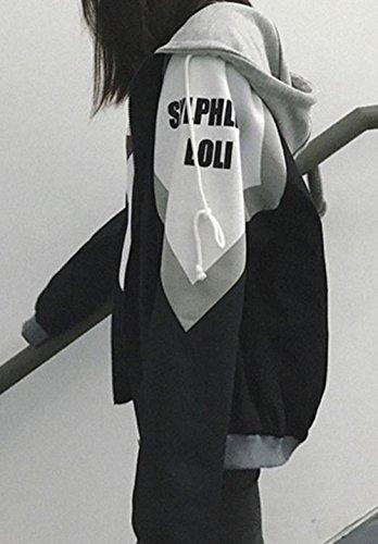 BaSen メンズ ジャケット 秋 冬 長袖 カップル アウター ファッション 暖かい スタジャン ゆったり 防風 防寒 韓国風 上着 厚手 ハンサム ブルゾン黒bs4