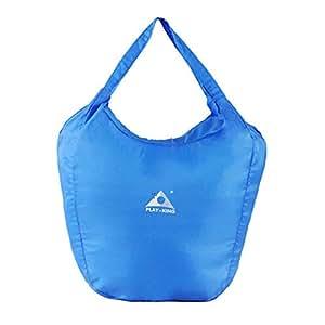 1stモール 折畳み式 半端ない エコバッグ ブルー 大迫力 超軽量 バッグ 20L 旅行 収納 防水 登山 買い物 ST-HANP2BAG-BL