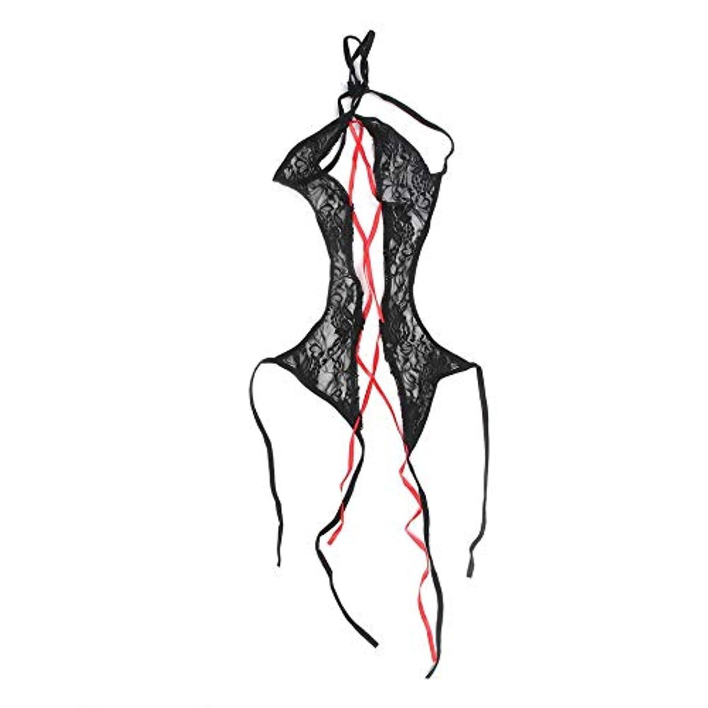 A Acreatspace女性ランジェリースーツ誘惑パースペクティブ透明メッシュエロコスプレ衣装ストレッチドレスパジャマセット