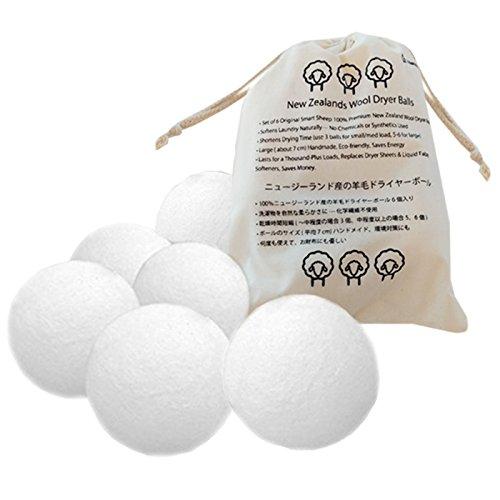 lslands ドライヤーボール 100% ニュージーランド製 衣類と一緒に乾燥機に入れるとすぐに乾くすぐれもの 柔軟剤不要 静電気防止