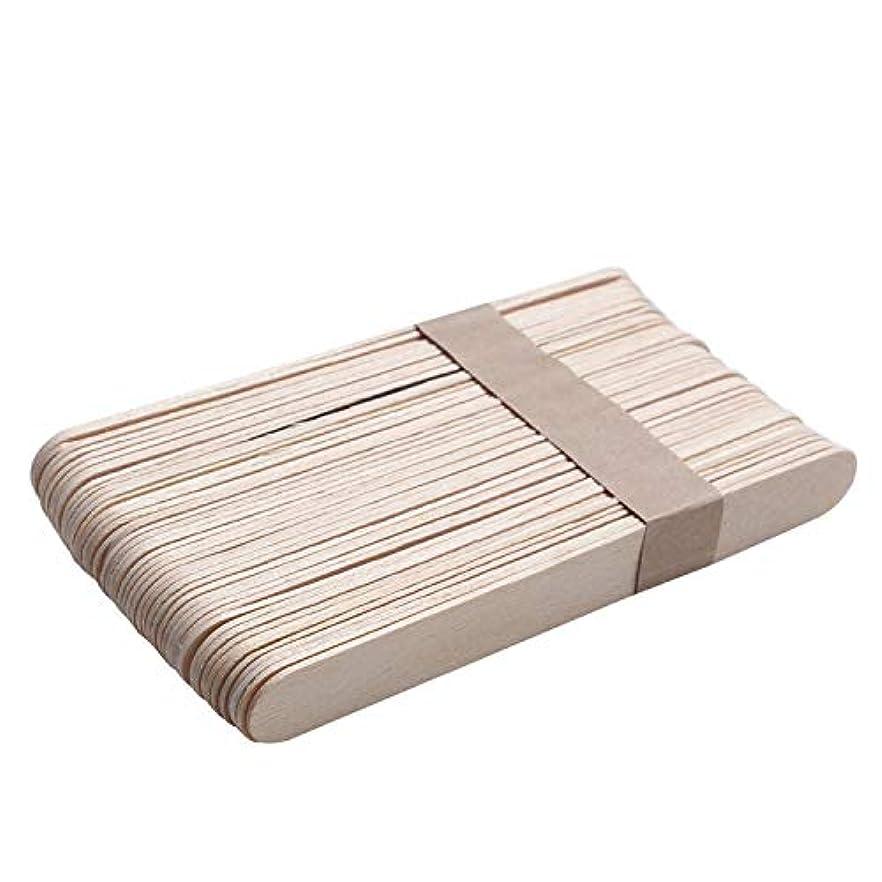 スタジオ研究所誤ってMigavann 50ピース15センチ木製ワックススティック 使い捨て木製ワックスヘラワックスアプリケータdiyフェイシャルマスクスティック