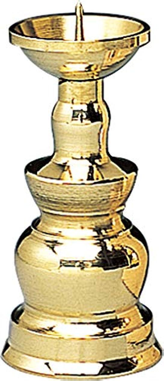 旅客脱臼するチョップ真鍮ローソク立 3.0寸