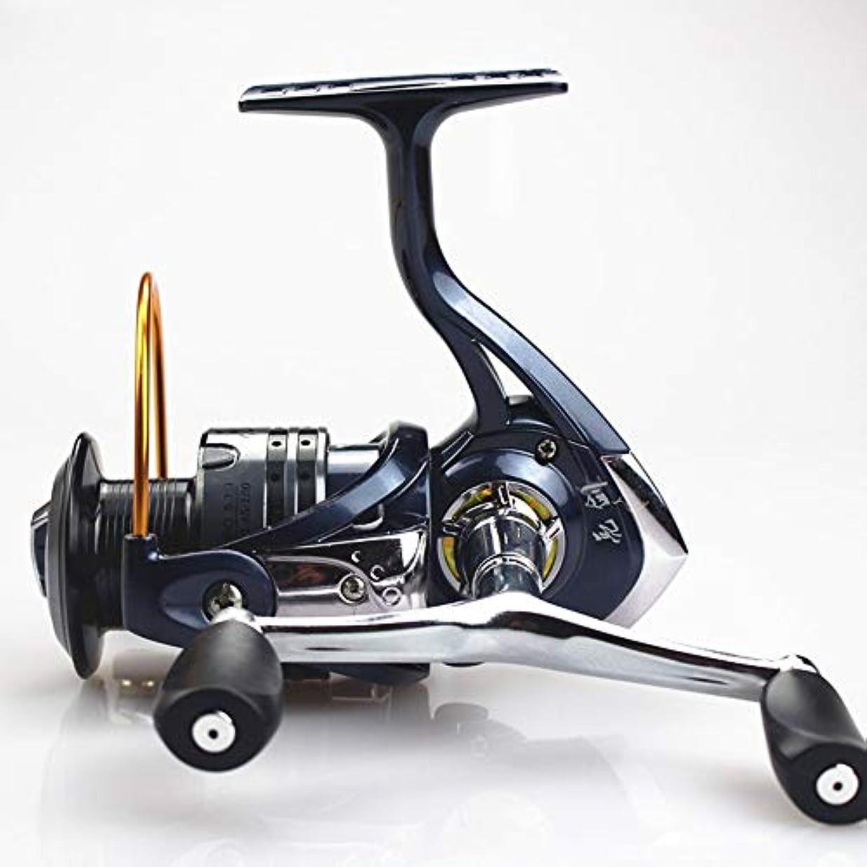 閉じ込める冷淡なさようならHOHYLLYA 釣りリールスピニングホイール釣り糸ラウンド鯛釣り用品 (Size : LQ6000(12+1))