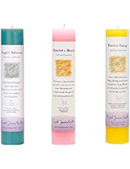 (Angel's Influence, Manifest a Miracle, Positive Energy) - Crystal Journey Reiki Charged Herbal Magic Pillar Candle...