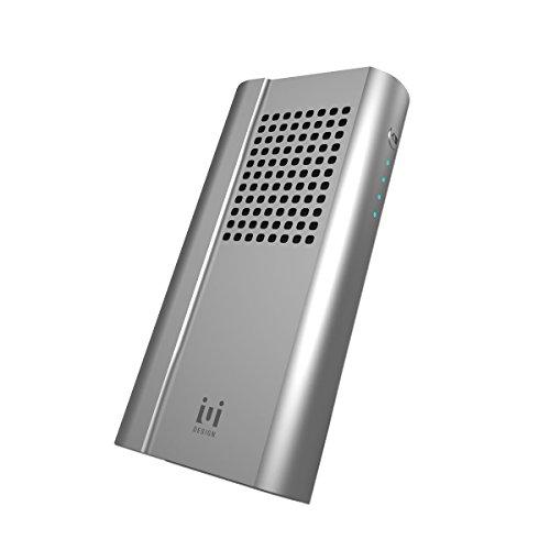 J-Force モバイルバッテリー機能付きワイヤレススピーカー シルバー 6600mAh POWERVOICE サイズ65x130x28(mm) アルミニウム筐体 UD-1405-SL UD-1405-SL