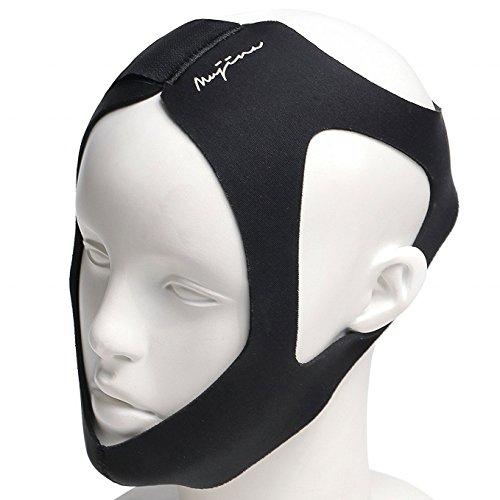 (ムジナ) mujina 快適いびきグッズ 顎固定サポーター 男女兼用 ブラック
