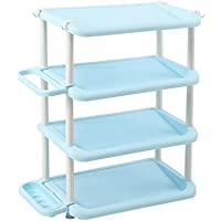 YANFEI 多層靴ラック傘収納棚4段ラック (色 : Blue)