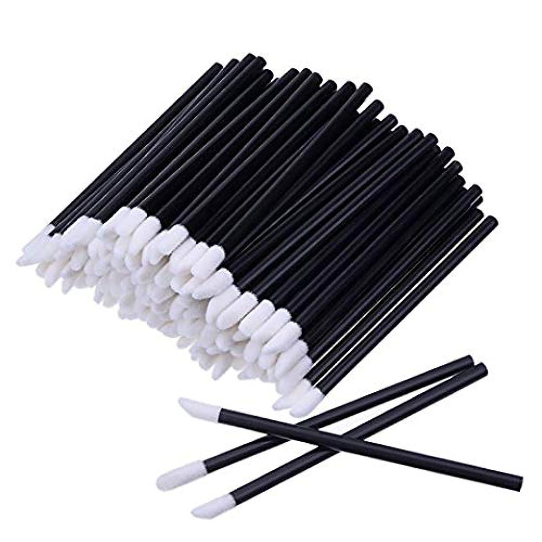 安いですボア発音するKEDSUM リップブラシ 使い捨て 300本入り メイクブラシ 化粧用品 化粧筆 化粧ブラシ 携帯用 便利 (ブラック)