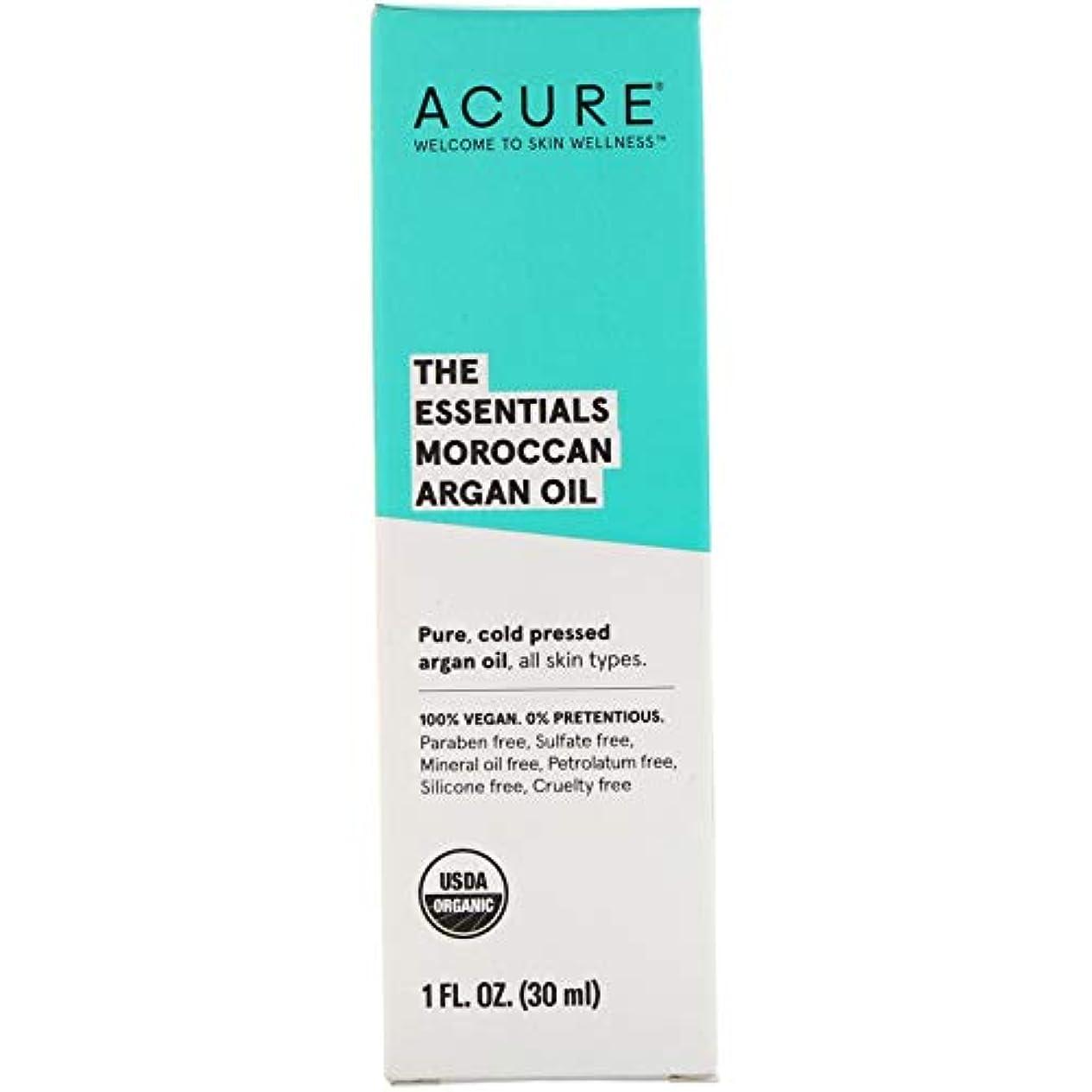 毎回嫉妬経過Acure, The Essentials モロッコ産アルガンオイル 1オンス (30 ml) [並行輸入品]