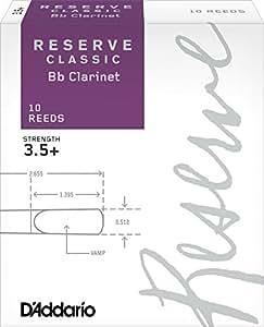 D'Addario  リード レゼルヴ クラッシック B♭クラリネット 強度:3.5+(10枚入) ファイルドカット DCT10355
