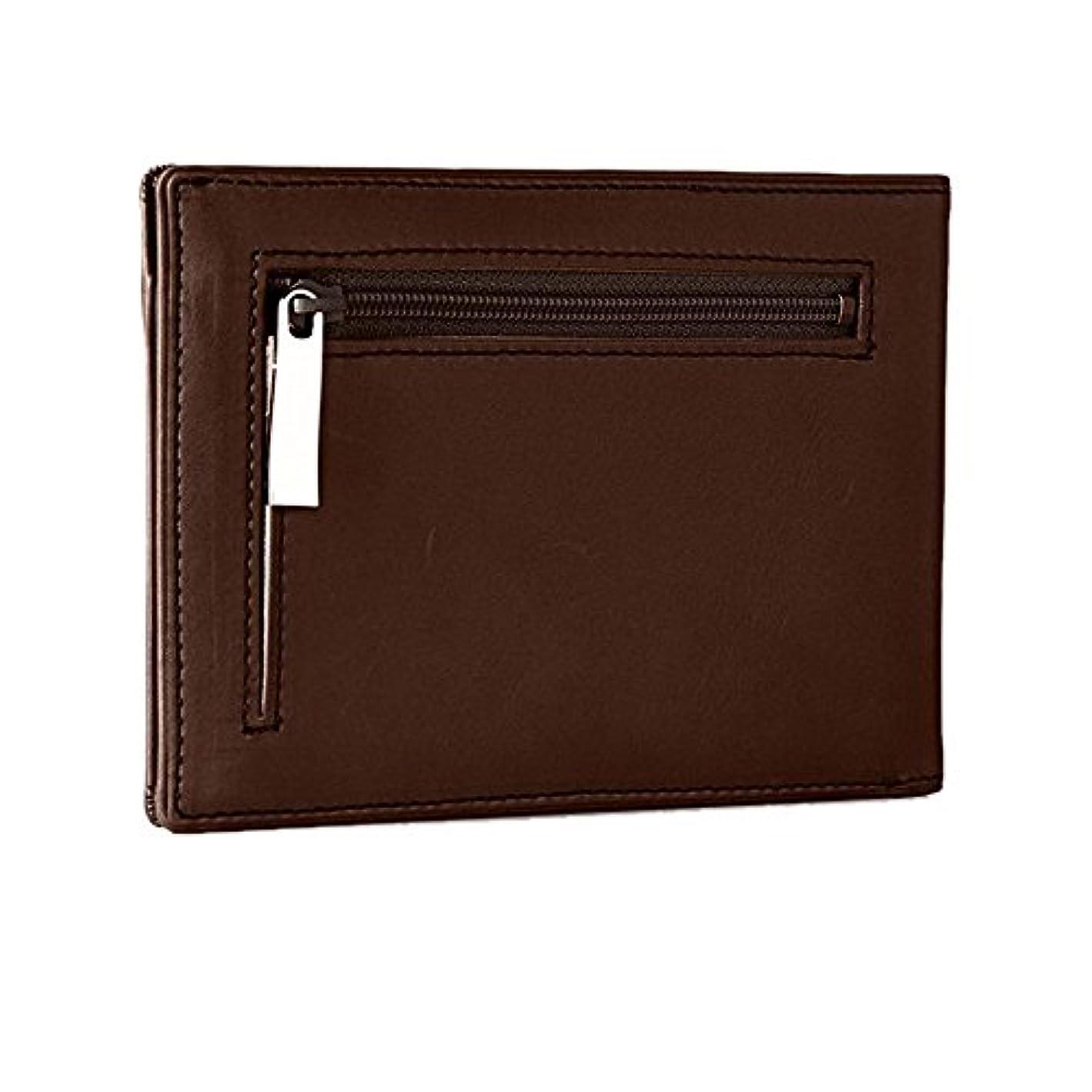 接地夕暮れ逆THINly SLBシリーズ 二つ折り財布 メンズ 小物 日本製 レザー 薄型サイズスィンリー財布 財布 ブラック