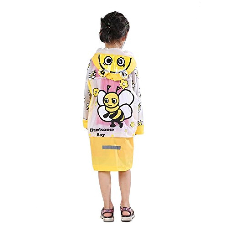 Neaer Kids Rain Coat子供レインコートレインウェア/ Rainsuit、キッズ防水動物レインコート