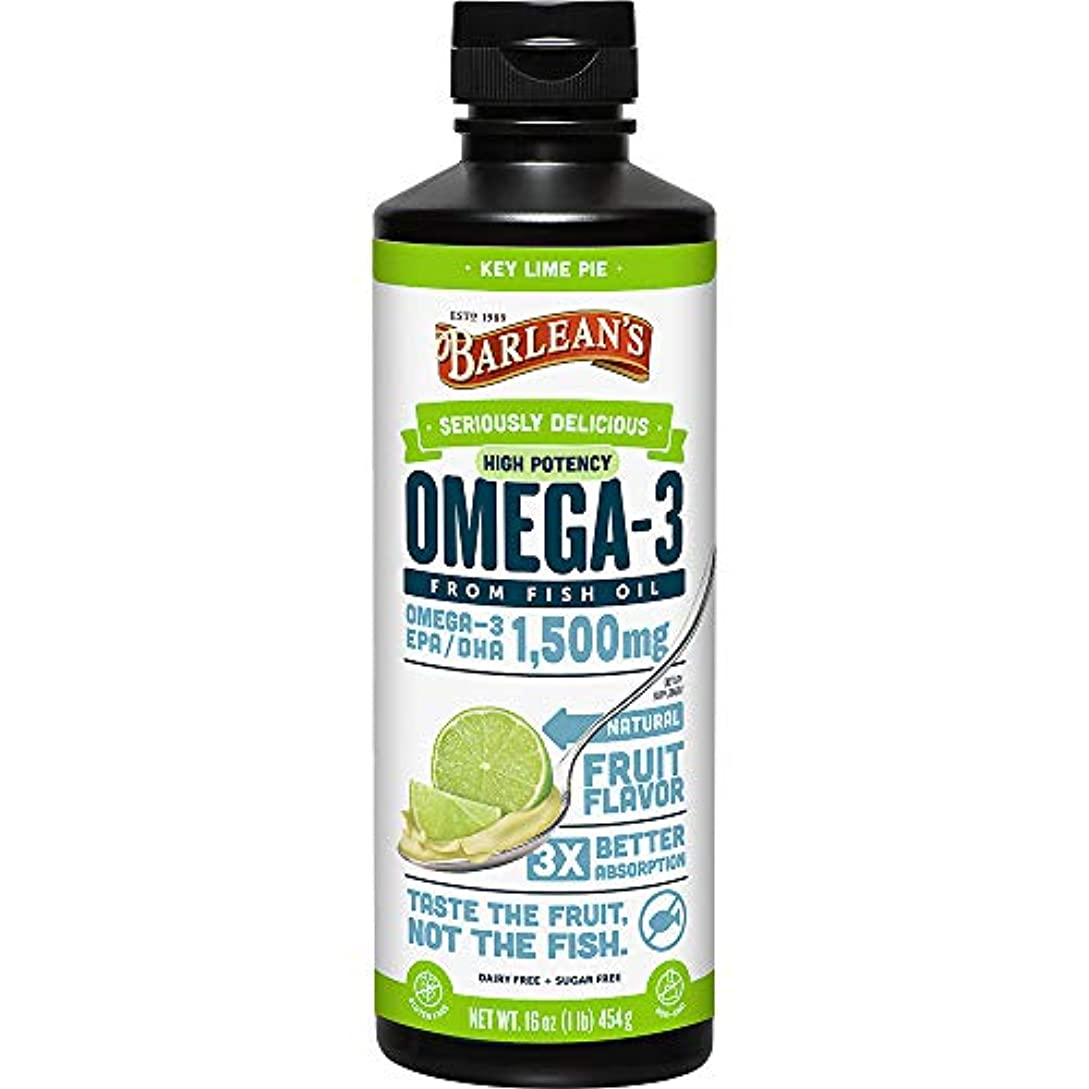 深さミュウミュウ助言Barlean's - Omegaの渦巻の魚オイルの超高い潜在的能力Key石灰 1500 mg。16ポンド