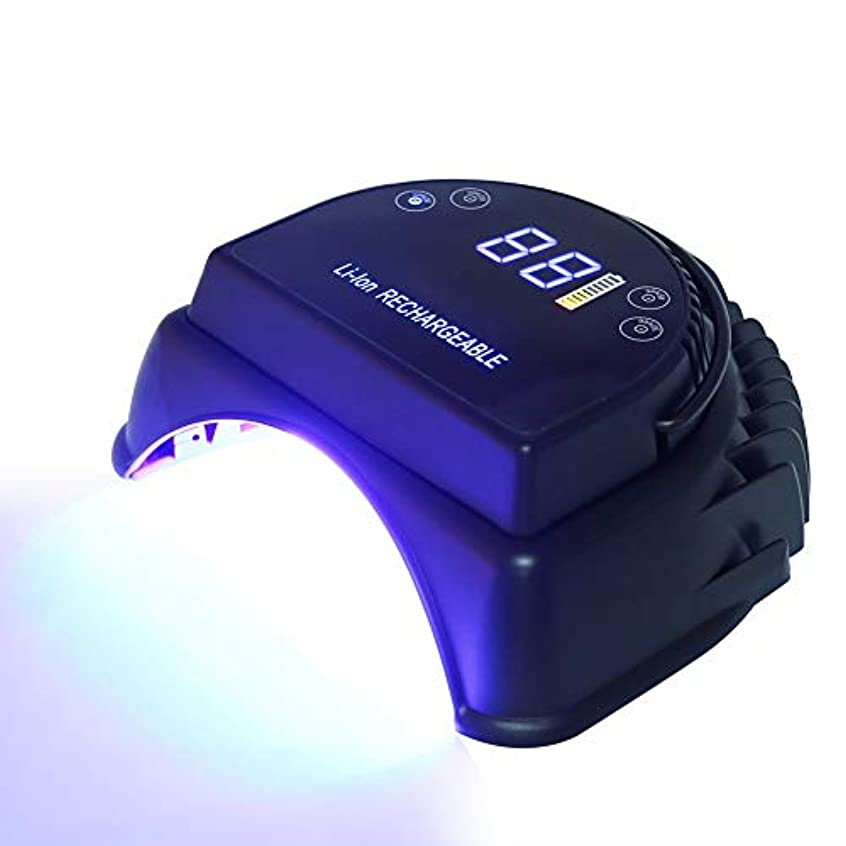 フィードレンジ干渉ジェルUV LEDネイルランプ、64WマニキュアドライヤーネイルキュアリングランプライトジェルネイルUVライトペディキュアキュアランプジェルネイルランプジェルネイルドライヤー充電式マニキュアペディキュアネイルランプ(米国のプラグ)