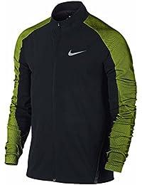 NikeメンズツイルRunning Jacketブラック/ボルト