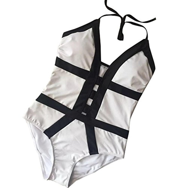 Top Homieレディースワンピースモノキーニビキニビーチ水着スーツ着痩せ ワイヤー外線防止 肌守り