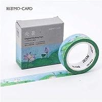 LFDJD 15ミリメートル* 7メートル24気候かわいい花葉テープカラフルな粘着テープ用ホームデコレーションスクラップブッキング2
