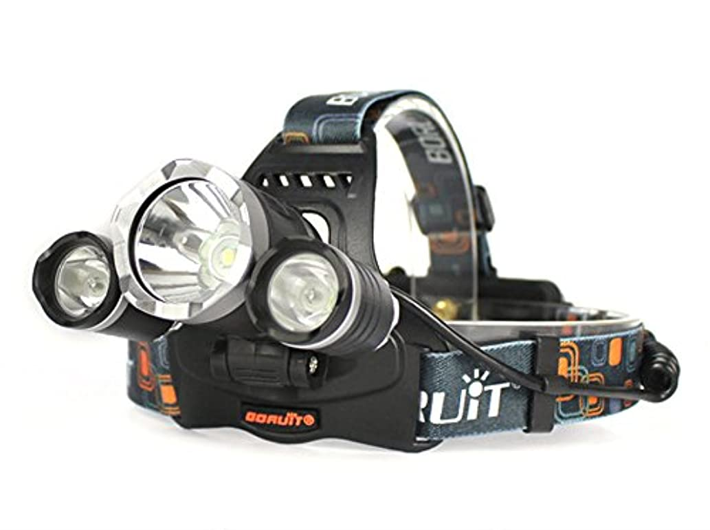 出力道に迷いました火薬Vanderヘッドライト3 LEDヘッドライトスーパーパワー2000LMクリーXM-L T6 LEDオレンジSCCヘッドライト
