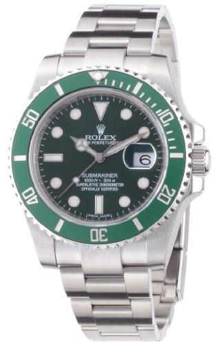 [ロレックス]ROLEX サブマリーナデイト ブラック文字盤 グリーンベゼル SS 腕時計 Ref.116610 116610LV メンズ 【並行輸入品】
