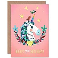 Unicorn Flowers Birthday 7th Greetings Card ユニコーンフラワーズ