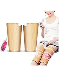暖房膝サポート9マッサージモードと膝のけがのための5つの速度でラップ膝温めラップパッド療法マッサージャー