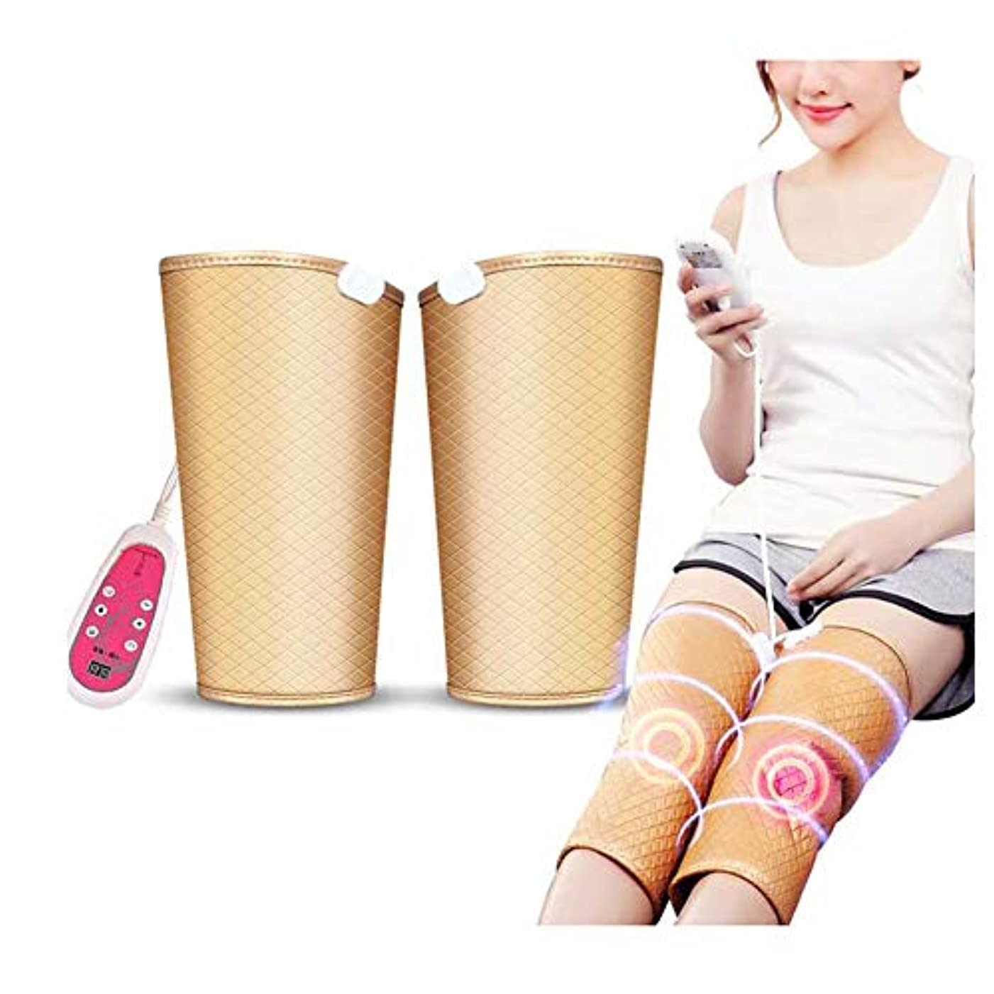 公然とメカニックリスキーな9種類のマッサージモードと5種類の速度を備えた加熱式膝装具-膝治療用膝セラピーマッサージャー-加熱膝パッド