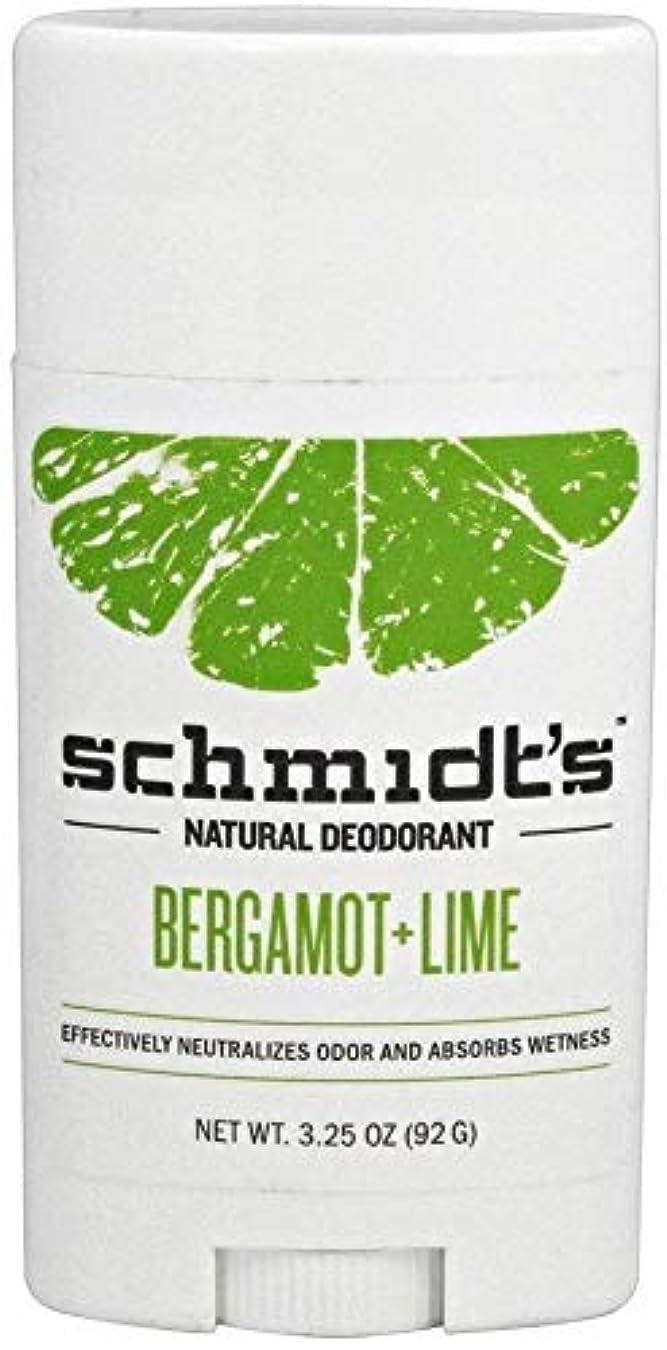 なめる書く真夜中Schmidt's Deodorant Stick BERGAMOT + LIME 3.25 oz シュミッツ デオドラント ベルガモット ライム 92g X 3セット[並行輸入品]