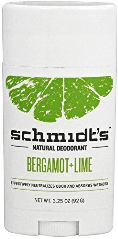 グループ湖ボランティアSchmidt's Deodorant Stick BERGAMOT + LIME 3.25 oz シュミッツ デオドラント ベルガモット ライム 92g X 3セット[並行輸入品]