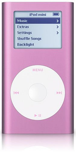 Apple iPod mini Pink 4GB w/USB [M9804J/A]
