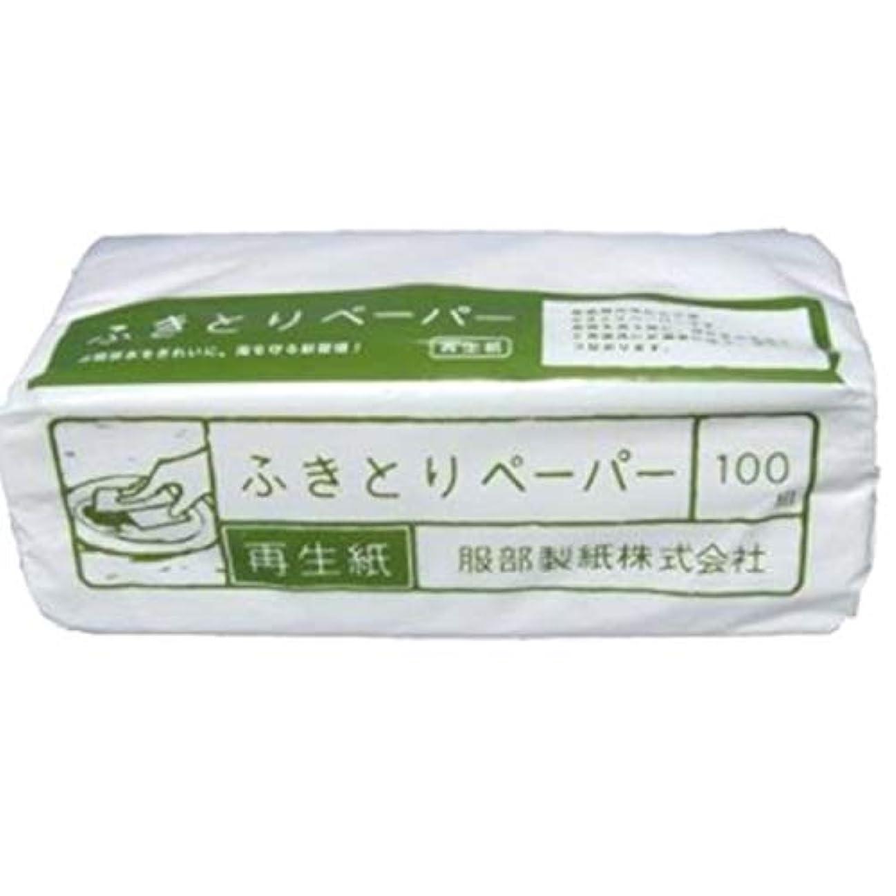 錆びバース恩恵服部製紙 ペーパータオル 吸水  ホワイト 約縦10×横23×高8cm 環境にやさしい 再生紙 ふきとりペーパー 100枚