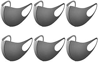 6/12個のファッション汚染防止保護ダスト保護、快適なイヤーループ、洗える、再利用可能