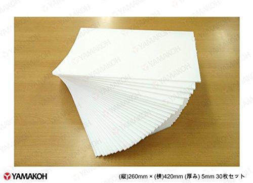 【アウトレット特価30枚入POP・アートに最適】プラダンシート 白色 幅420mm ×長260mm 厚5mm