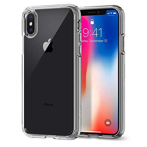 【Spigen】Apple iPhone X ケース, 全面 クリア Qi充...