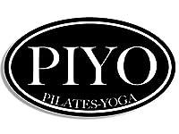 楕円形Piyoピラティスヨガインストラクターステッカー( om love )