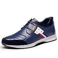 [HONGJING] ビジネスシューズ メンズ カジュアル インソール ローカット 靴 春夏 トレッキング 通気 スリッポン オシャレ 履き地よい 歩きやすい 24.5cm 青い ブルー