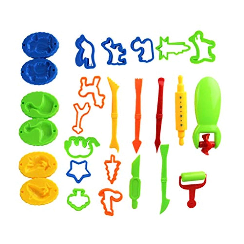 TOYANDONA 26個 子供用粘土型セット かわいいごっこ遊び 早期教育 面白いプラスチック粘土型 子供用