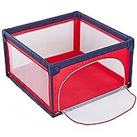 ポータブル赤ちゃんのPlaypen Playard幼児や赤ちゃんのためのペン、軽量メッシュチャイルドフォードオックスフォードクロス4サイドパネルアクティビティセンター屋内アウトドア (色 : Red)