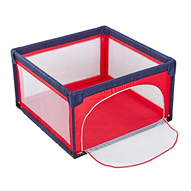 大型ポータブルベビープレイペン屋内屋外の男の子女の子の安全な遊び場庭の折り畳まれた幼児ホーム活動エリアフェンス、赤 (色 : 4 Panel)
